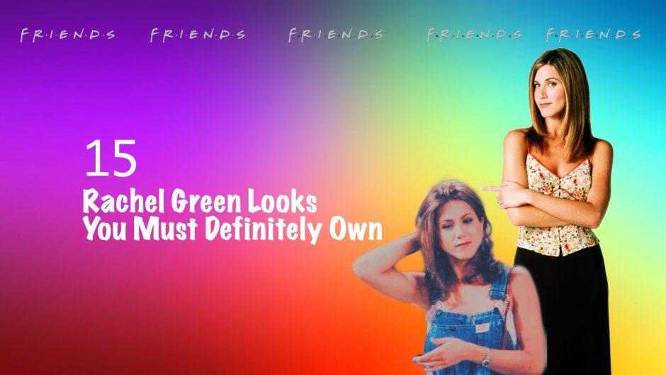 Rachel Green, Jennifer Anniston, Black skirt, blue overall, FRIENDS, camisole, open hair